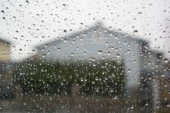 Raindrops on window pane Royalty Free Stock Photography