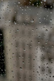 Raindrops. On window in Paris, view from centre pompitou Stock Photos