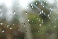 Raindrops on window Royalty Free Stock Photo