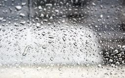 Raindrops on the window stock photography