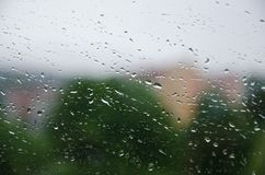 Raindrops on the window. Background stock image