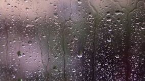 Raindrops on the window stock video footage