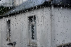 Raindrops on the window Royalty Free Stock Photography