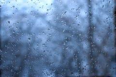 Raindrops on window Stock Photo