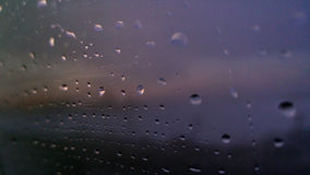 Raindrops on window Royalty Free Stock Photos