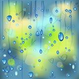 Raindrops on the window Stock Photo