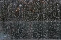 Raindrops on a Window stock photography