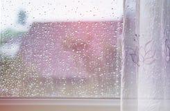 Raindrops on windows glass Royalty Free Stock Photography