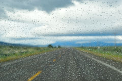 Raindrops on the Windshield. Stock Image
