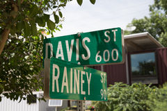 Rainey Street Austin Texas arkivbild
