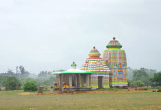 Rainfall on colorful temple, Puri-Konark highway Stock Image
