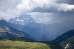 Rainfall in the mountains Royalty Free Stock Images