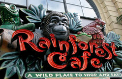 Rainforest cafe. San francisco,california Royalty Free Stock Images