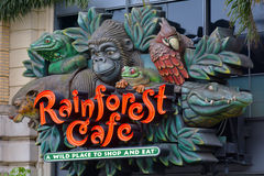 Rainforest Cafe in San Francisco - California Royalty Free Stock Photo