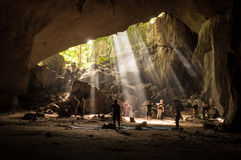 Rainforest cave in Taman Negara, Malaysia Stock Photo