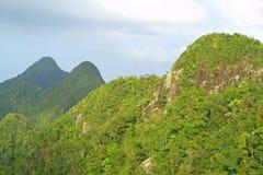 Rainforest hills on Langkawi island Royalty Free Stock Images