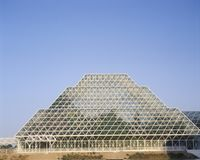 Rainforest and living quarters of Biosphere 2 at Oracle in Tucson, AZ royalty free stock photos