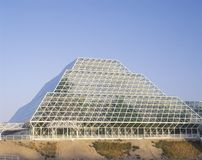 Rainforest and living quarters of Biosphere 2 at Oracle in Tucson, AZ Stock Image