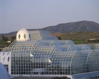 Rainforest and living quarters of Biosphere 2 at Oracle in Tucson, AZ stock photos