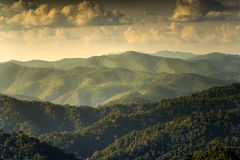 Rainforest mountain landscape. With dramatic light Stock Photo