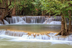 Rainforest Waterfall in Thailand Royalty Free Stock Photography