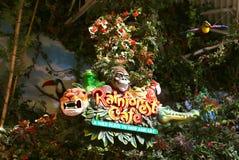 Rainforestkafét Nashville Tennessee Entrance Sign Arkivfoto