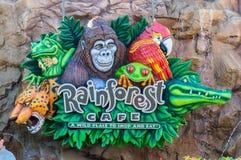 Rainforestkafétecken Royaltyfria Bilder