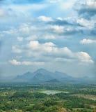 Rainforests, swamps and mountains. Sigiriya, Polonnaruwa, Sri La. Rainforests, swamps and mountains. View from above. Photo from Sigiriya, Polonnaruwa, Sri Lanka Royalty Free Stock Photos
