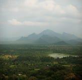 Rainforests, swamps and mountains. Sigiriya, Polonnaruwa, Sri La. Rainforests, swamps and mountains. View from above. Square photo from Sigiriya, Polonnaruwa Royalty Free Stock Photos