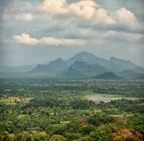 Rainforests, swamps and mountains. Sigiriya, Polonnaruwa, Sri La. Rainforests, swamps and mountains. View from above. Square photo from Sigiriya, Polonnaruwa Royalty Free Stock Photography