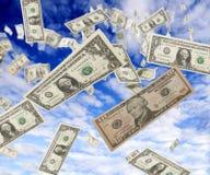 raing的美元 图库摄影