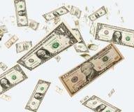 raing的美元 库存照片