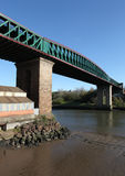 Rainha Alexandra Bridge, Sunderland imagens de stock
