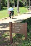Rainha Ann Cottage e jardim botânico foto de stock
