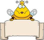 Rainha Armor Banner da abelha dos desenhos animados ilustração royalty free