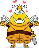 Rainha Armor Hug da abelha dos desenhos animados ilustração stock