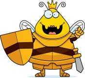 Rainha Armor Idea da abelha dos desenhos animados ilustração stock