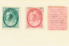 Rainha arruinada Victoria Postage Stamps fotografia de stock royalty free