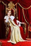 Rainha bonita da moça fotos de stock royalty free