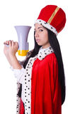 Rainha com altifalante Imagem de Stock