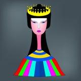 Rainha com a coroa dourada em sua cabeça Imagem de Stock