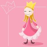A rainha cor-de-rosa Fotografia de Stock Royalty Free