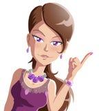 Rainha da beleza Imagens de Stock Royalty Free