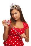 A rainha da representação histórica fotos de stock royalty free