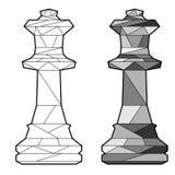 Rainha da xadrez do esboço ilustração royalty free