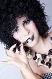 Rainha da xadrez que come o rei da xadrez Foto de Stock