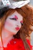 Rainha de arrasto dos cartões em Christopher Street Day Imagens de Stock Royalty Free