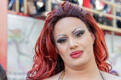 Rainha de arrasto na parada de orgulho alegre Sao Paulo 2ø Fotos de Stock Royalty Free