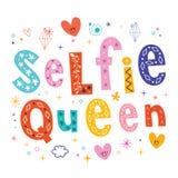 Rainha de Selfie ilustração do vetor
