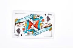 Rainha do cartão de jogo das pás Imagens de Stock Royalty Free